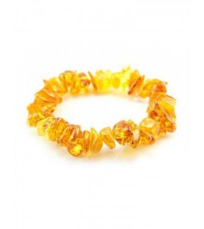 """Amber bracelet """"Golden"""""""