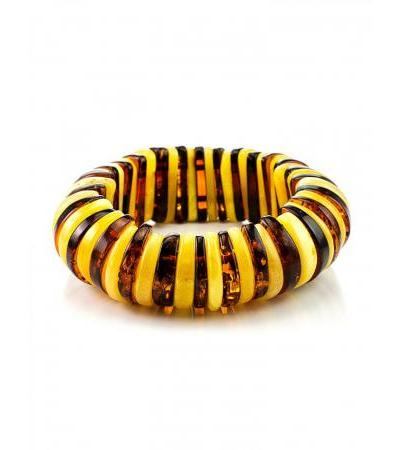 """Bracelet made of natural Baltic amber """"Colorful tangerine"""""""