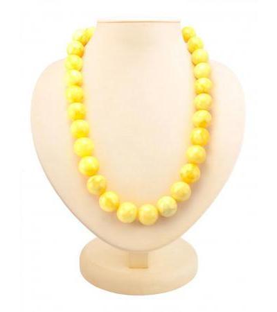 """Beads from natural molded amber """"Matt balls"""""""