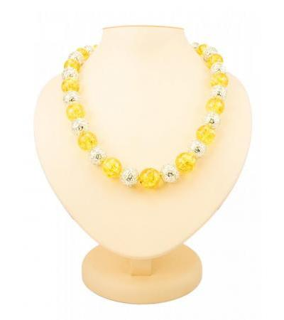 "Luxurious beads made of natural golden-lemon molded amber and 925 sterling silver ""Aphrodite"""