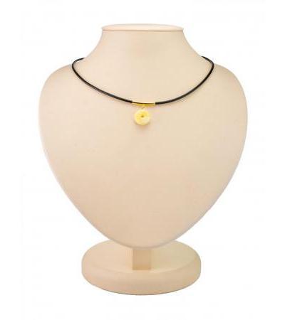 """Original pendant made of natural Baltic honey amber """"Elsa"""""""