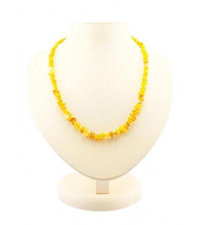 """Beads from natural amber honey color """"Small pebbles"""""""