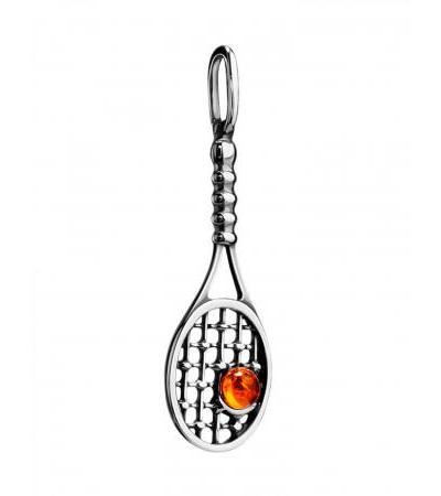 "Original pendant made of silver and natural Baltic amber ""Wimbledon"""