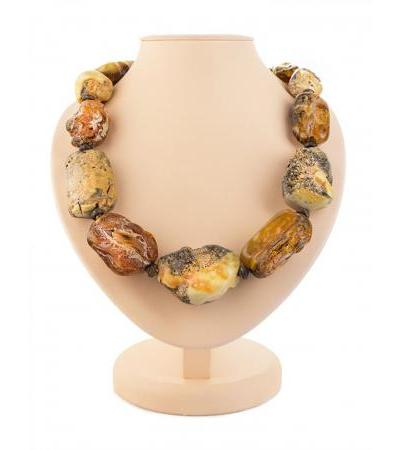 """Beads in ethnic style from natural amber """"Indonesia"""""""