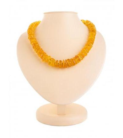 """Elegant spectacular beads from natural Baltic amber """"Glossy washers"""""""