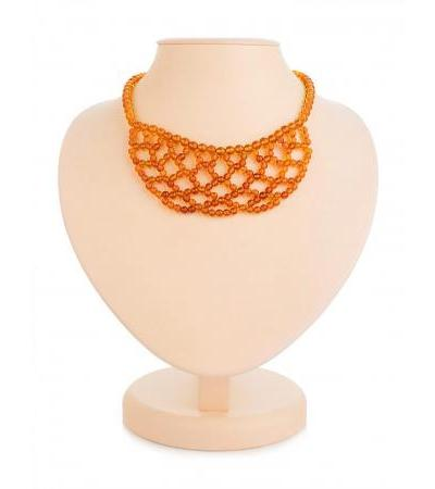 Charming necklace-collar made of natural Baltic amber