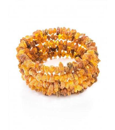 "Bracelet made of natural unpolished amber on a 5-turn string ""Healing"""