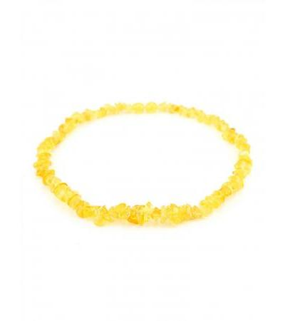 """Baby beads made of natural amber """"Small honey chips"""" for children"""
