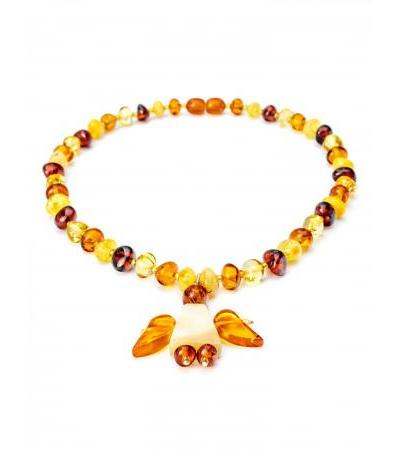 """Decorative baby beads made of natural amber """"Angel"""" for children"""