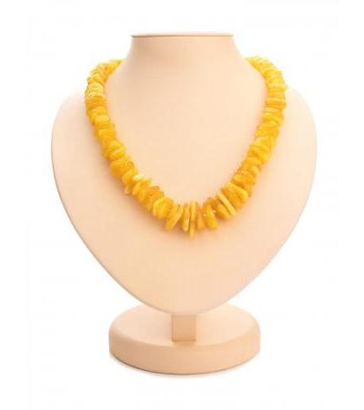 """Beads from natural honey amber """"Chips"""""""