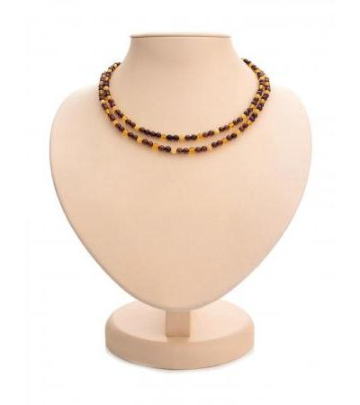 Multifunctional beads made of natural Baltic amber for tying scarves