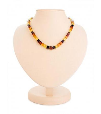 "Luxurious original beads from natural solid amber ""Refined"""