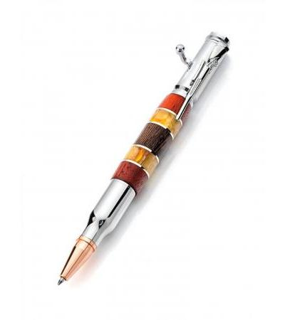 Original handle with natural amber and wood