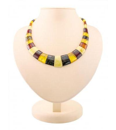 "Elegant necklace made of natural Baltic amber ""Egypt"""