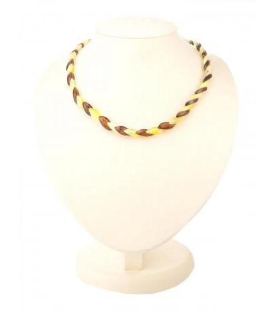 """Original beads from natural Baltic honey and cherry amber """"Snake"""""""