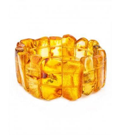 """Bracelet made of natural solid amber lemon color """"Pompeii"""""""