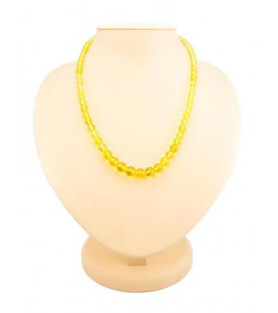 "Beads from natural lemon amber ""Balls"""