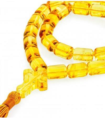 "Amber rosary ""Lemon barrel"""