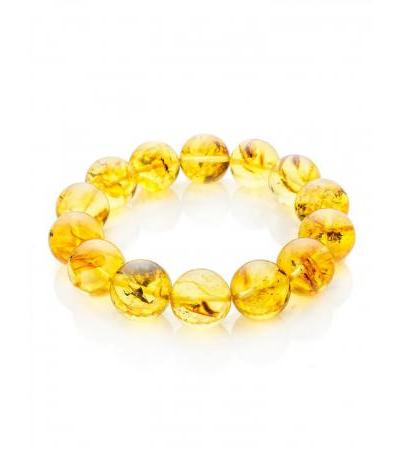 Bracelet made of molded amber with Jupiter inclusions