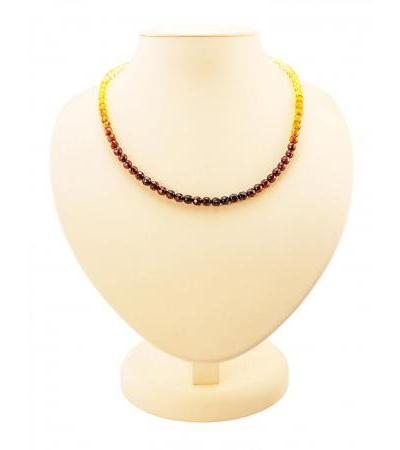 """Beautiful beads from natural solid Baltic amber """"Diamond tinted caramel"""""""