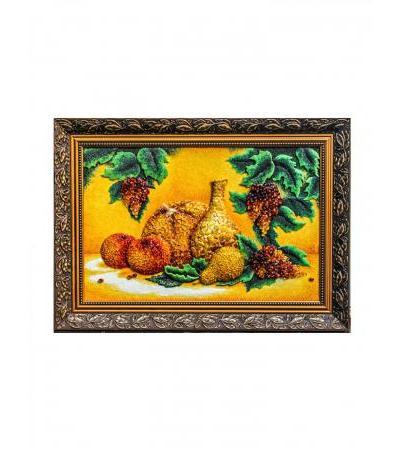 "Panel made of natural amber ""Still Life"""