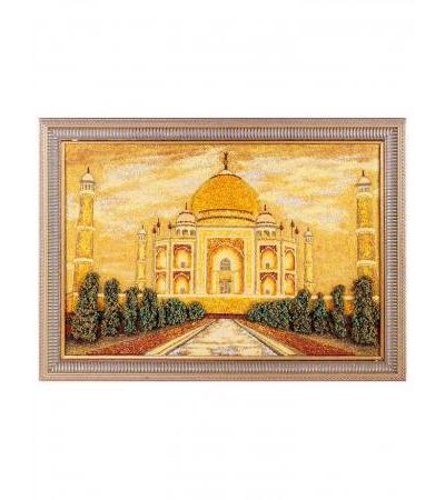 """Volumetric painting from natural amber """"Taj Mahal"""""""