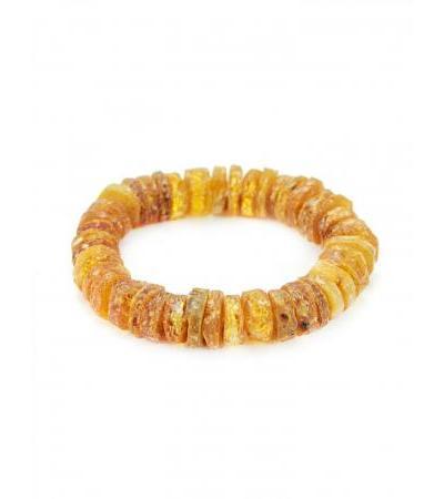 "Medical bracelet made of amber ""Colorful honey washers"""