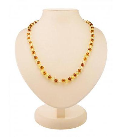 """Bright beads made of natural Baltic amber """"Small crumpled ball"""""""