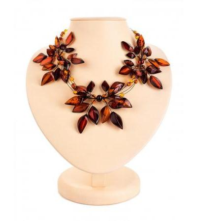 Stunning Primrose Necklace in Cherry Amber