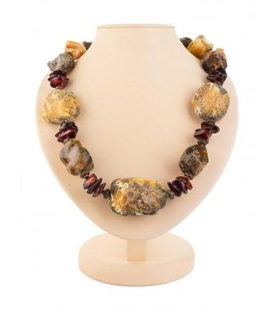 "Natural Baltic amber beads with natural texture ""Indonesia"""
