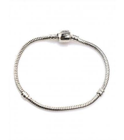 Modular bracelet for charm pendants in the Pandora style dark