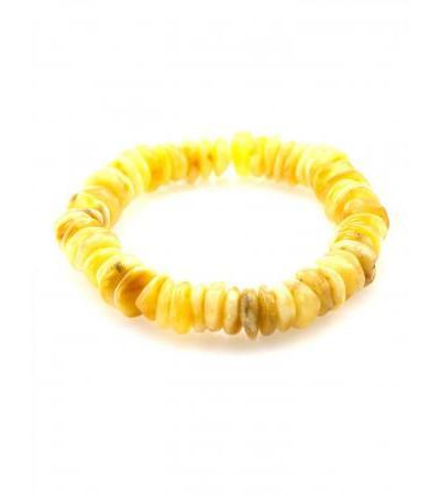 "Bracelet made of natural solid Baltic amber ""Honey washer"""