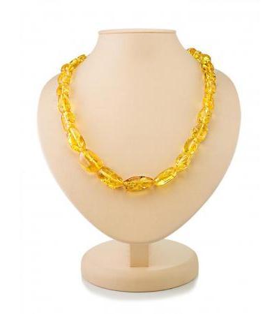 "Bright beads ""Lollipops"" from natural lemon amber"