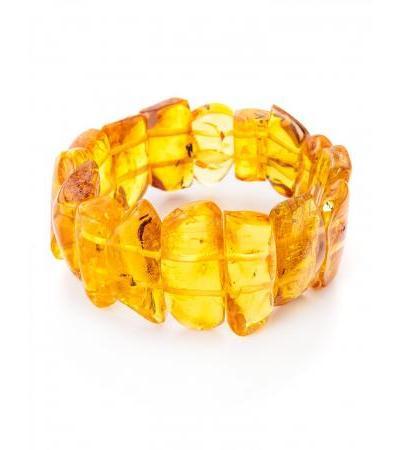 "Bracelet made of natural Baltic amber ""Pompeii"""