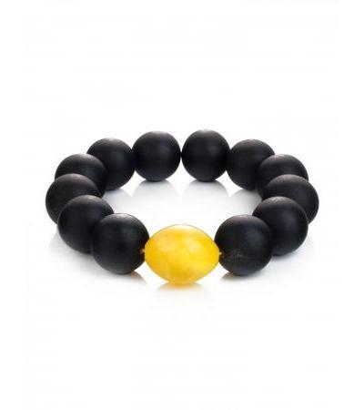 "Original bright bracelet ""Cuba"" from natural molded amber"