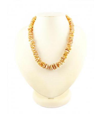 "Amber beads ""Healing"" unpolished light"