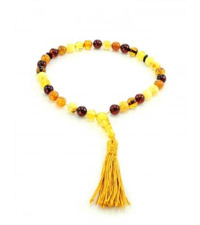 "Rosary from natural amber ""Colorful balls"""