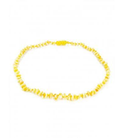 "Children's beads ""Chips"" from natural landscape amber for children"