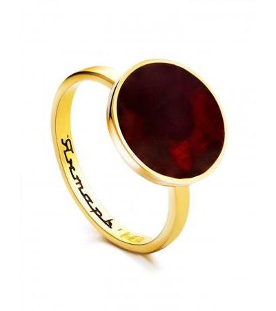 """Bright and stylish ring """"Monaco"""" Amber® with cherry amber"""