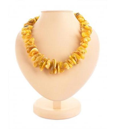 """Spectacular beads made of natural amber """"Wild motley pebbles"""""""