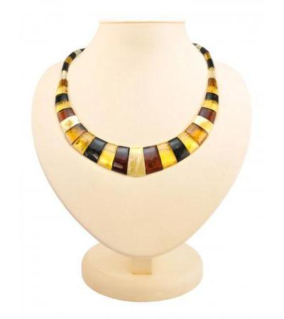 """Elegant necklace made of natural Baltic amber """"Egypt"""""""