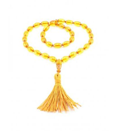 "Muslim rosary from natural amber ""Golden olives"""