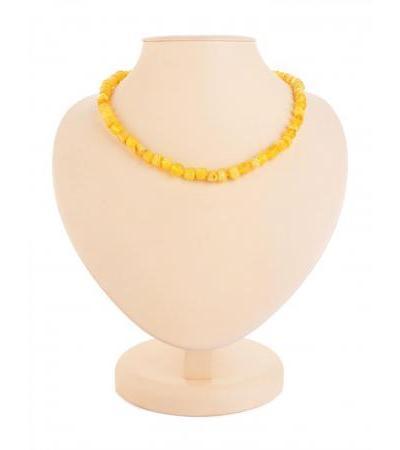 """Bright amber beads """"Honey corn"""""""