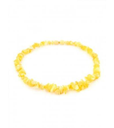 "Baby beads made of natural amber ""Small honey chips"" for children"