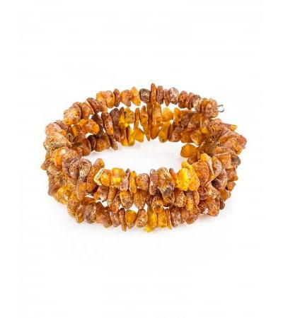 "Bracelet made of natural amber ""Healing in three turns"""