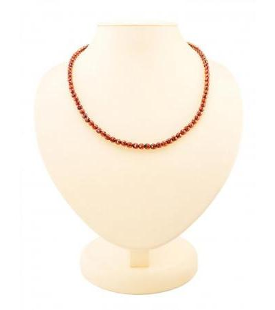 "Magnificent beads made of natural solid Baltic amber ""Dark diamond caramel"""