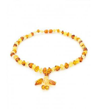 "Charming baby beads made of natural amber ""Angel"" for children"