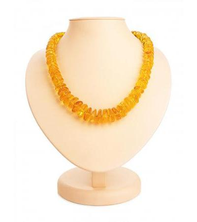 """Beads from natural solid amber golden color """"Washers solar"""""""